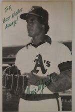 Craig Minetto  Oakland A's Autographed 3x5 Signed Postcard