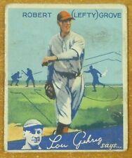 1934 Goudey Lefty Grove Baseball Card VG