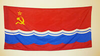USSR Silk Banner Flag of the Soviet Socialist Republic ESTONIA ~180 x 90cm