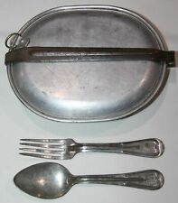 ORIGINAL WWI MESS KIT W/ 1918 DATED FORK AND SPOON