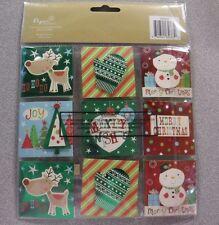 Pk of 12, 18 Handmade Christmas Gift Tags (M)