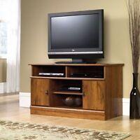 TV Stand Entertainment Center Wood Flat Screen Modern Media Console Cabinet Oak