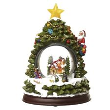 Snow Globe Musical Light up Tree Father Christmas Santa's Heaven Sends Village