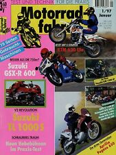 Motorradfahrer 1/97 1997 Chang Jiang KTM LC 4 LSe XJR1200SP XT350 Pegaso TL1000S
