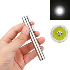 Mini Portable 1000LM Q5 LED Stainless Steel Key Chain Flashlight Torch AAA/10440