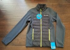 NWT COLUMBIA TRACK LINES HYBRID WATER RESISTANT JACKET MEN SIZE EXTRA SMALL