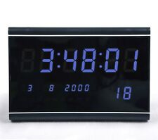 Multi LED digital Display Wanduhr mit Datumanzeige Alarm Gross Hell in Blau 3020