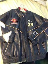 1995 Champion Jeff Gordon #24 100% Leather Jacket Sam Bass Artwear XXL Black $$