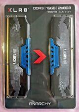 NEW PNY Anarchy 16GB Kit 2x8GB DDR3 1866MHz PC3-14900 CL10 Desktop Memory BLUE