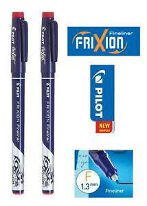 Pilot FRIXION Erasable Fineliner Pens 1.3mm Fibre Tip RED Pack of 2