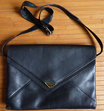 Sac en cuir noir LANCEL Paris Les Courriers avec porte-monnaie avec housse
