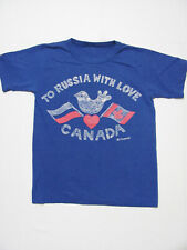 vintage 80s To Russia With Love.Canada Peace Dove Cold War 50/50 t-shirt Xs