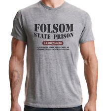 Folsom State Prisión California 1968 Johnny Cash CONCIERTO Camiseta gris
