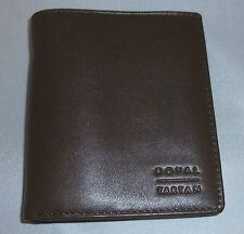 Royal Tartan 10.5cm Genuine Leather Men Wallet - Brown (I1-3)