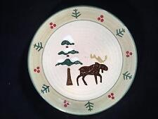 Set of 3 Moose Holiday Sonoma Home Goods LODGE Salad Plates - FREE SHIPPING!