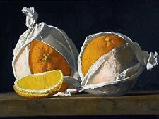 Still life oranges wrapped J. Peto Tile Mural Kitchen Backsplash Marble Ceramic