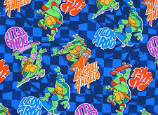 TMNT TEENAGE MUTANT NINJA TURTLES SKATIN TURTLE TOSS 100% COTTON FABRIC  YARDAGE