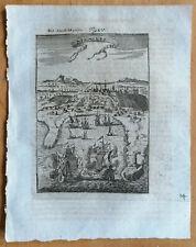 MALLET: Original Engraving View Manila Philippines - 1718 (NS)