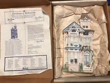 Brian Bakers DejaVu Collection 1559 Victorian Tower House Ceramic House 1992 Nib
