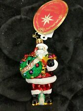 Christopher Radko 2017 Holly Jolly Year Santa Little Gem Christmas Ornament