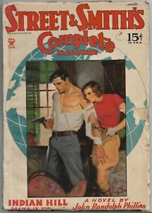 Vintage Pulp~STREET & SMITH'S COMPLETE MAGAZINE~Aug. 1935 TOM LOVELL Cover!