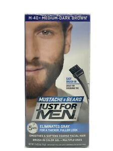 Just For Men Mustache and Beard Hair Color - M40 Medium