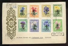Used Flowers Mongolian Stamps