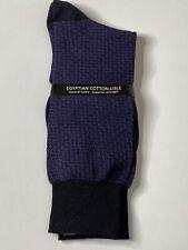 New Pantherella Men's Cotton Blend Mid Calf Socks Black/Purple M 8.5-11 Shoe