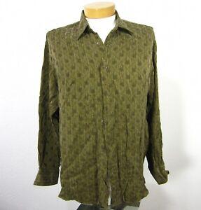 Mondo Di Marco Made in Italy Long Sleeve Rayon Shirt L Large 52 EU Brown 028