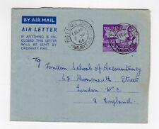 aérogramme ancien Île Maurice Mauritius tampon date 1954 Port Louis Centre /L883