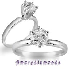 1.02 ct GIA I SI2 round triple excellent diamond solitaire ring platinum size 5