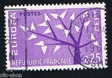 1 FRANCOBOLLO FRANCIA EUROPA CEPT LILLA 1962 usato