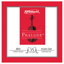 DAddario Prelude Violin Strings Set 3/4 - Medium tension