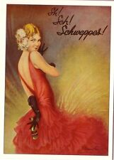 Reproduction Vintage Advertising Postcard: Sh !  Sch !  Schweppes !  Glamour ~