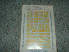 Microscale 1/72 Decals 72-40 Luftwaffe Id yellow letters numbers 13 mm Bb