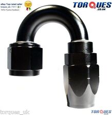 AN -16 (16AN JIC -16 AN16)  180 DEGREE Swivel Seal BLACK Hose Fitting