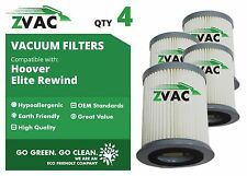 4 Pack Hoover HEPA Filters For Elite Rewind Bagless Part # 59157055 Fits U550...
