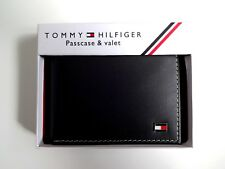 Men's Leather Wallet 'Tommy Hilfiger' Bifold, BLACK, Coin Pouch, MRP£60.00, SALE