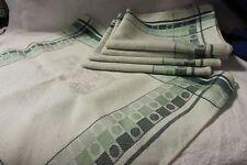 Set of 5 Green Linen Napkins