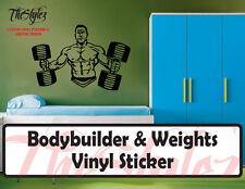 BodyBuilder & Weights Oversize Wall Vinyl Sticker