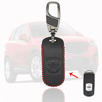 2 Button For Mazda 2 3 5 6 CX-3 CX-5 CX-7 CX9 MX5 Leather Car Key Fob Case Cover