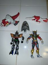 Mighty Morphin Power Rangers Black, Red, Red Dragon, Scooter and Light up Shield
