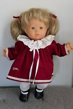 Vintage Gotz Doll Blonde Pigtails Blue Sleepy Eyes