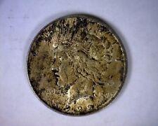 BEAUTIFULLY TONED DIE BREAK VAM 1922 PEACE LIBERTY SILVER DOLLAR U.S. COIN