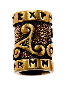 Bartperle Triskele Bronze Haarperle Wikinger Viking Bartschmuck Stück/Paar 1209: