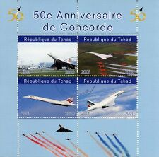 Chad Aviation Stamps 2020 CTO Concorde 50th Anniversary Red Arrows 4v M/S