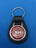 FORD BRONCO AUTO TRUCK LEATHER KEYCHAIN KEY CHAIN RING FOB #056
