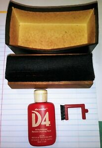 Vintage Discwasher With Brush And D4 Liquid Box