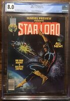 Marvel Preview #11 Star Lord CGC 8.0