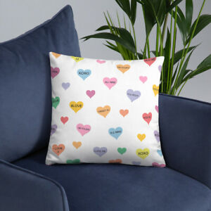 Valentine's Day Pillow, Candy Heart Pillow